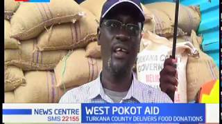 Turkana county delivers food donations to victims of West Pokot landslide