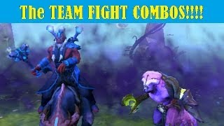 Dota 2 Gameplay Team Fight Combos #1 - Faceless Void and Disruptor
