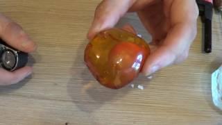 Янтарь видео -Как отличить янтарь от подделки в домашних условиях