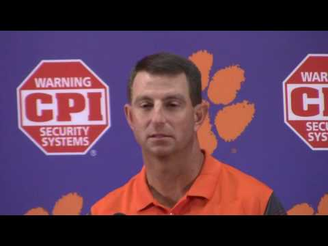TigerNet.com - Dabo Swinney press conference for Louisville - Part 1 - 9.27.2016