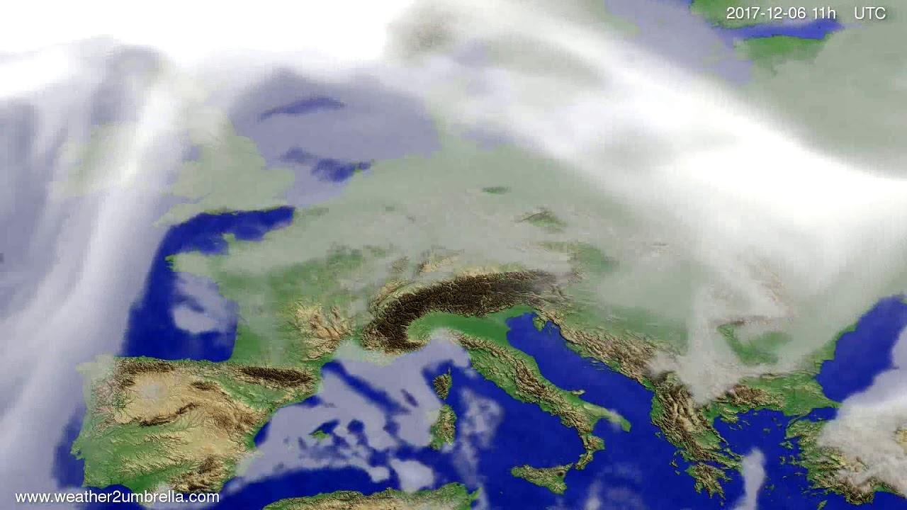 Cloud forecast Europe 2017-12-03
