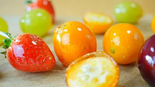 Candied Fruits 金柑と苺と葡萄のフルーツ飴