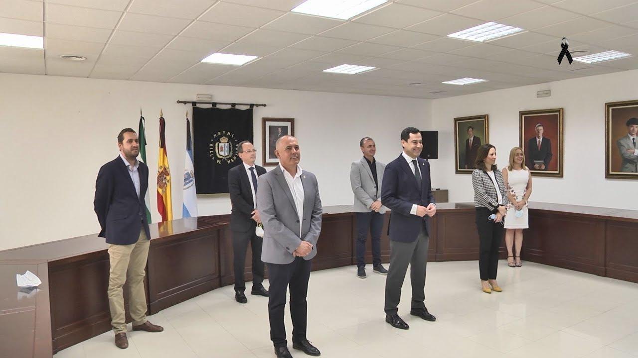 Visita del presidente de la Junta de Andalucía