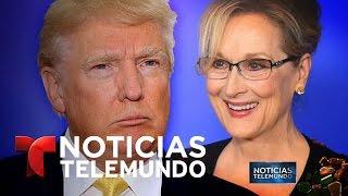 GOLD - USD - Meryl Streep emplaza a Trump en los Globos de Oro   Noticiero   Noticias Telemundo