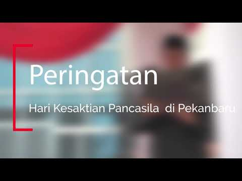 Peringatan Hari Kesaktian Pancasila di Pekanbaru.
