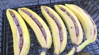 Banan z czekoladą na grilla! 😋