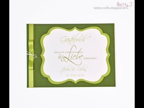 Hochzeits-Gästebuch mit Buchschrauben-Bindung/wedding guest book