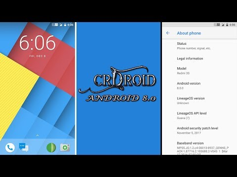 [VOLTE][Android 8 0]crDroid ROM For Redmi 3S/Prime/3X Review & Download  Links 2017 - What's New