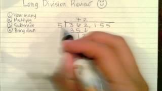 Reviewing Long Division