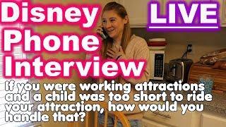LIVE PHONE INTERVIEW   DISNEY SUMMER ALUMNI COLLEGE PROGRAM   SUCCESSFUL