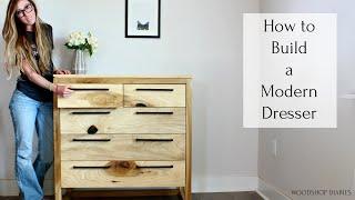 How To Build A Modern 5 Drawer Dresser