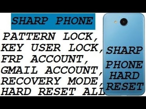 Sharp 506SH: Hard Reset Forgot Password No Recovery - смотреть
