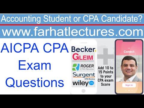 AICPA CPA Exam Questions : FAR - YouTube