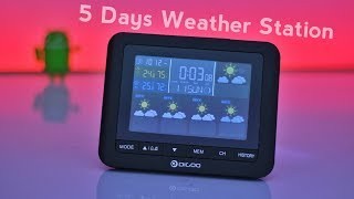 Digoo DG-TH8805 Wireless 5 Day Weather Station Digital Clock Unboxing & Review | DK Tech Hindi