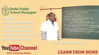 CLASS XI   Teacher - PROMIT PAUL   CHEMISTRY   LAB   DPS DURGAPUR