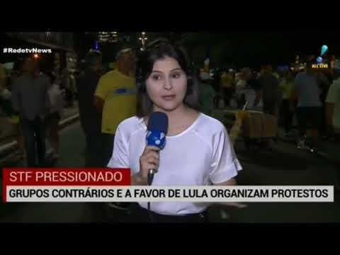 Globo Fala de Manifestação a Favor de Lula em Ato Contra Lula/ Greve na França