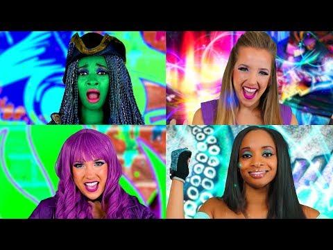 Descendants 2 Sing Along: Uma vs Mal Rap Battle Lyric Video. Totally TV