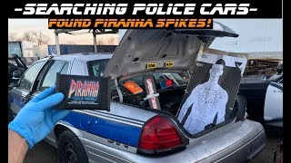 Searching Police Cars Found Piranha Spikes! Ford Crown Victoria interceptor p71