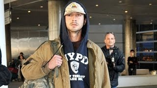 Shia LaBeouf arrived at LAX airport from Berlin! | Feb 2014