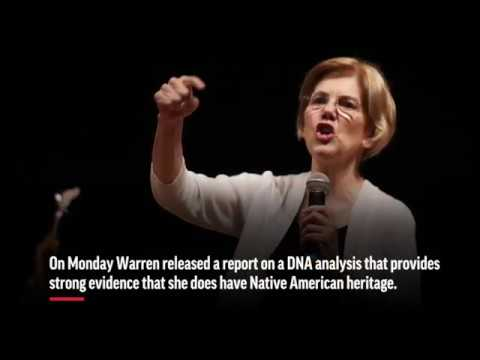 Responding to years of derision by President Donald Trump, Sen. Elizabeth Warren released a report on a DNA analysis that provides strong evidence she does have Native American heritage. She also released a campaign-style video about the DNA test. (Oct. 15)