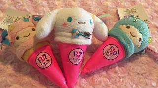 SANRIO x BASKIN ROBINS ICE CREAM CONES!
