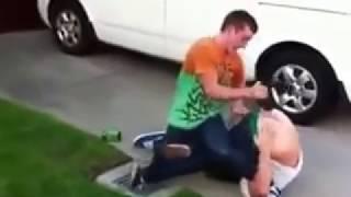 Изнасиловали страпоном на улице. Гопники отпиздили. Драка