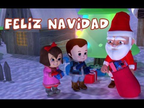 Feliz navidad with lyrics   popular christmas carols for the tiny tots
