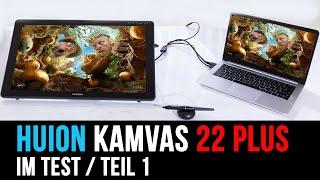 HUION KAMVAS 22 plus Grafiktablett mit Display I Testbericht und erster Eindruck (Teil 1) German