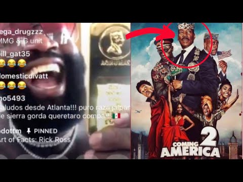 "Rick Ross Flexes Props From Coming To America 2 Filmed At His Mansion ""Zamunda"" 2"