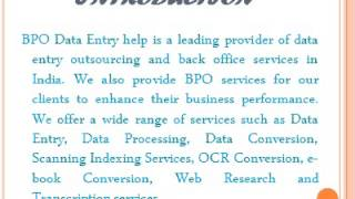 Offshore India Data Entry - Video - 3