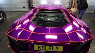 KSI Reaction of his Purple Lamborghini Aventador Wrap - Part 2