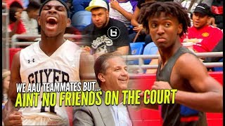 AAU TEAMMATES BATTLE IN FRONT OF COACH CALIPARI! Tyrese Maxey VS De'Vion Harmon Full Highlights!