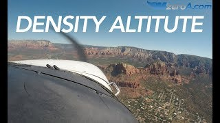 Flying a high density altitude pattern - Sedona AZ - MzeroA Flight Training
