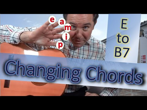 Changing Chords (Made Easy) E to B7 on the Flamenco Guitar