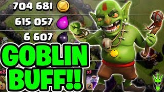 GOBLINS GOT A HIT POINT BUFF! - Free to Play TH10 - Clash of Clans