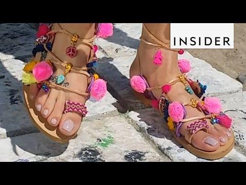 How a Designer Makes These Pom Pom Sandals