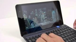 ASUSの小型モバイル2in1「T90Chi」でGIGAZINEを閲覧、YouTubeを再生してみた