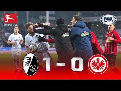 QUE HORROR! Veja as cenas lamentáveis no final de Freiburg x Eintracht Frankfurt na Bundesliga