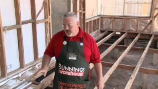 How to Install Underfloor Foil Insulation - DIY At Bunnings