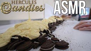 ASMR Candy Making: White Chocolate Oreo Bark (No talking)