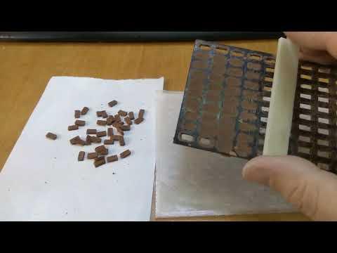 Пример использования формы кирпича и лопатки