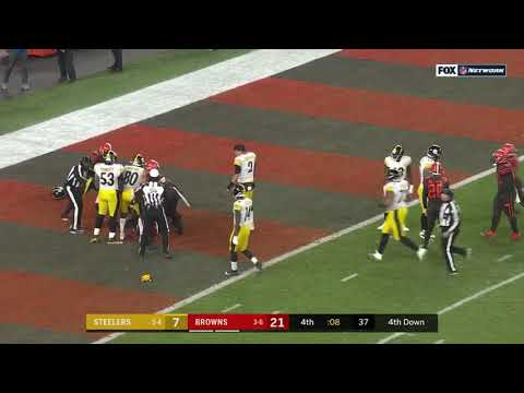 Browns Vs. Steelers Fight | NFL | Week 11 2019