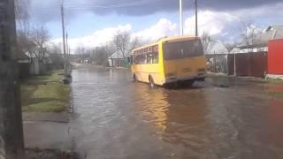 Руїна.Затоплена вул.9 Січня м.Сміла після дощів