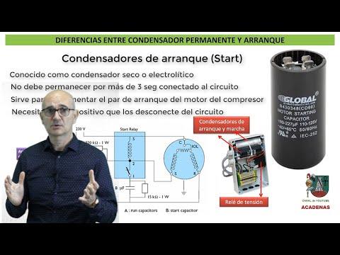 Como diferenciar condensador de marcha y de arranque (Clase 106.1)