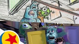 The Door Chase from Monsters, Inc. | Pixar Side by Side