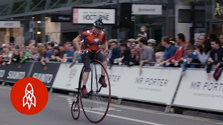 For todays WackySportWednesday its a blast from the past penny farthing bicycles