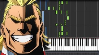 【FULL】Boku No Hero Academia [僕のヒーローアカデミア] Opening - The Day (Piano Synthesia Tutorial + Sheet)