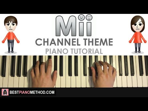 HOW TO PLAY - Nintendo Wii - Mii Channel Theme (Piano Tutorial Lesson)