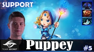 Puppey - Crystal Maiden Safelane | SUPPORT | Dota 2 Pro MMR Gameplay #5