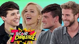 7 SECOND CHALLENGE with Jennifer Lawrence Josh Hutcherson and Liam Hemsworth
